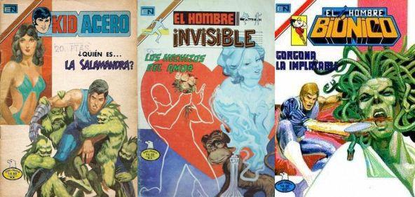El Hombre Invisible, El Hombre Biónico, Kid Acero - Ed. Novaro (Colecciones incompletas)