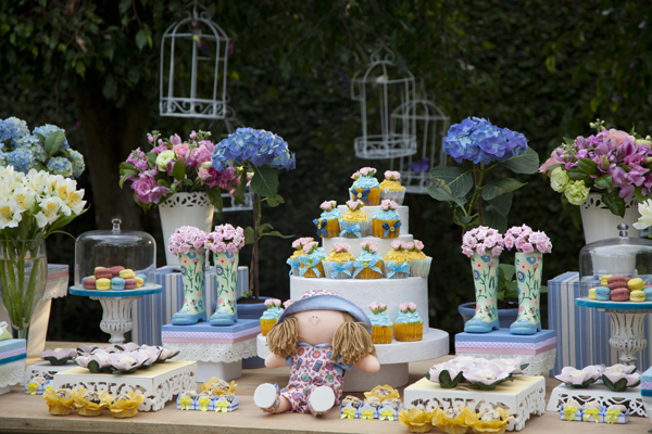decoracao de festa infantil tema jardim:Pintando & Bordando: Festa de criança feita em casa