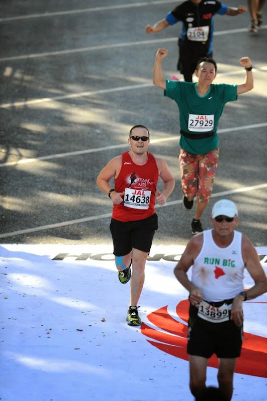 Honolulu Marathon 2012 Finish Line