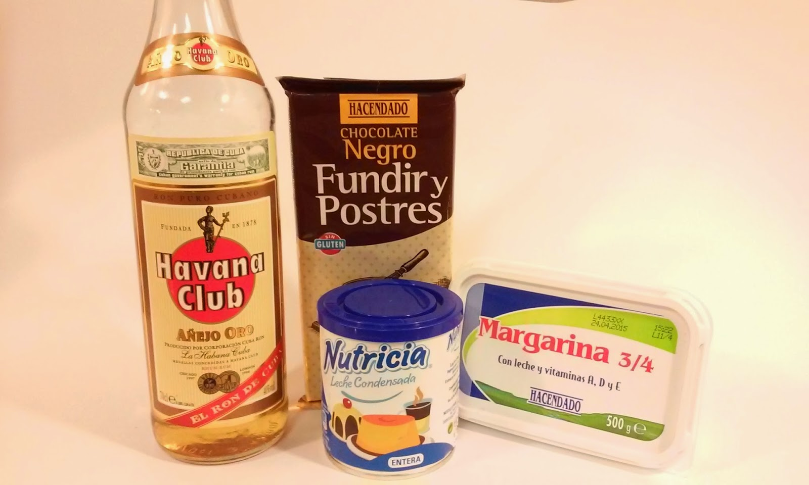 Ingredientes trufas de chocolate