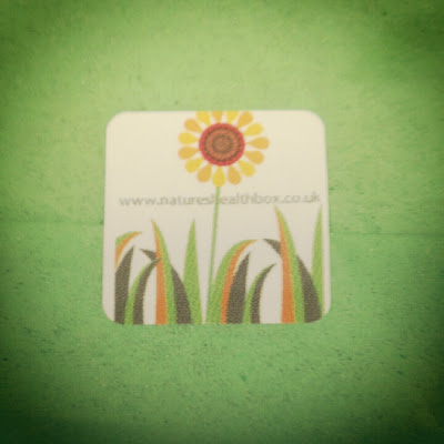 Natures Healthbox gift packaging sticker
