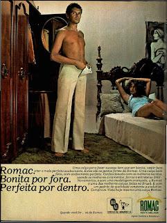 Anúncio calça romac de 1976.  moda anos 70; propaganda anos 70; história da década de 70; reclames anos 70; brazil in the 70s; Oswaldo Hernandez