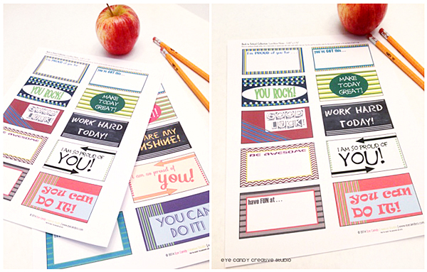 lunchbox notes, inspirational sayings, notes for kids, back to school notes