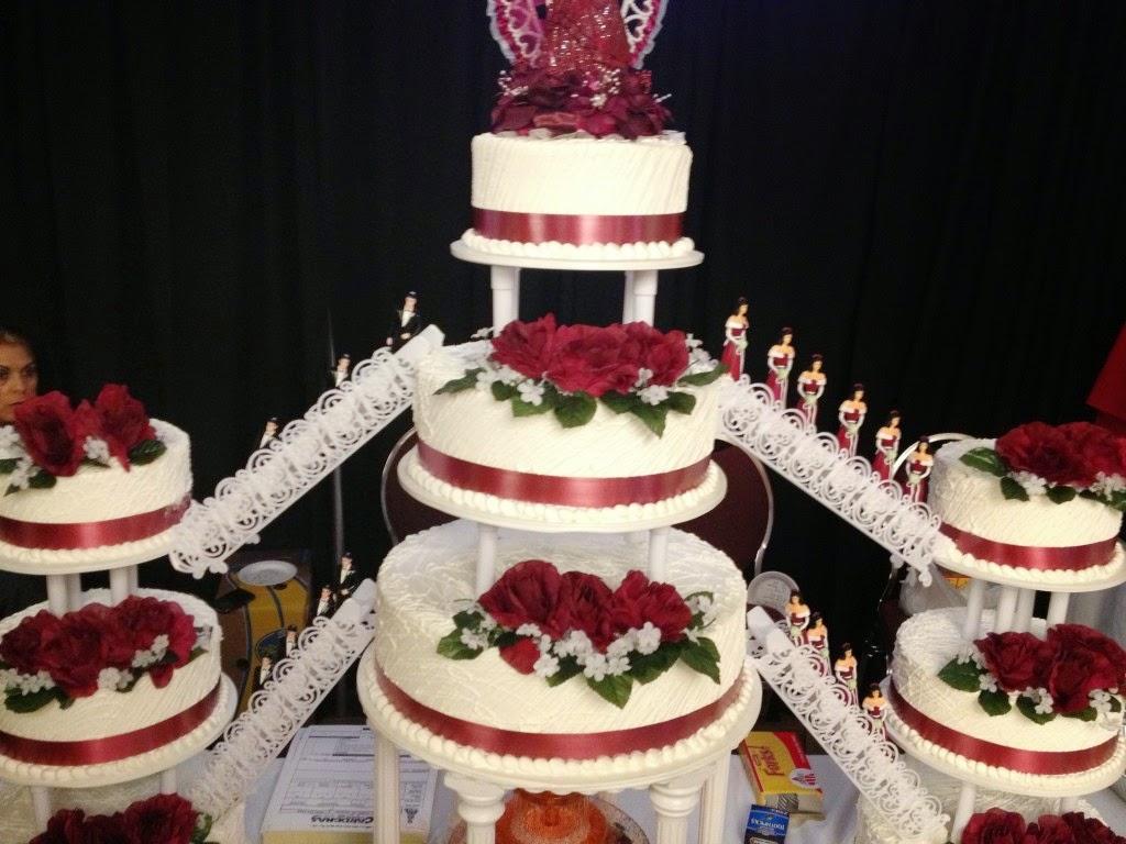 Quinceanera Fountain Cakes