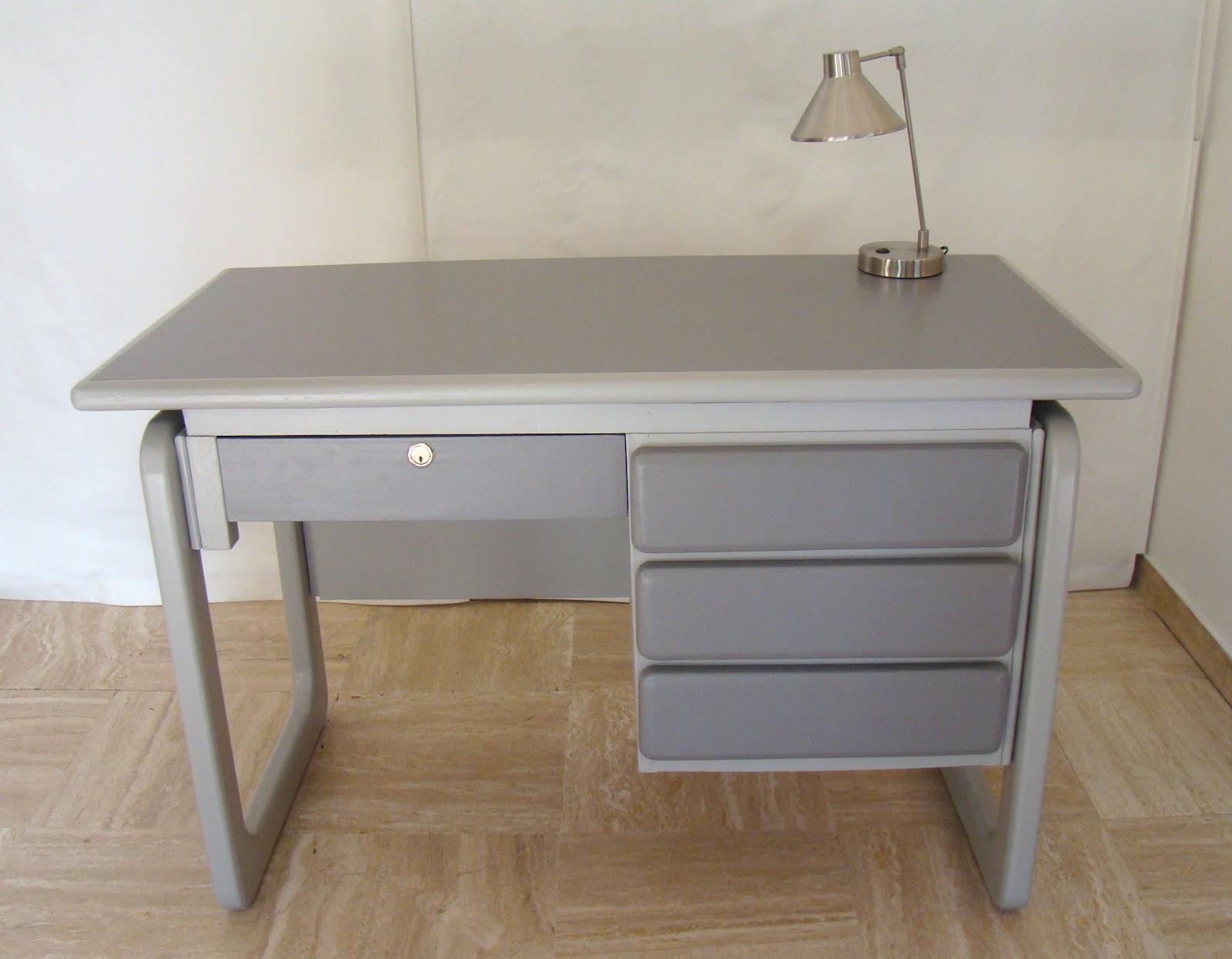 Grand bureau blanc grand bureau en bois peint blanc tiroir le