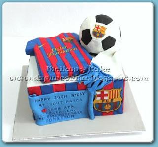 kue ulang tahun club bola FC Barcelona