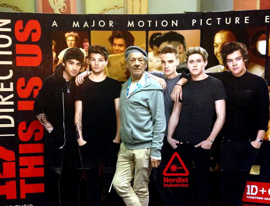 La Mejor Foto De Todos Los Tiempos: Ian McKellen Se Une A One Direction (FOTO)
