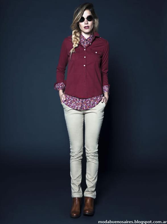 Kevingston Mujer otoño invierno 2014 camisas. Moda 2014 invierno.
