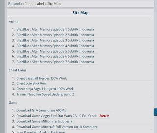 Cara Mudah Membuat Daftar Isi Blog Secara Otomatis