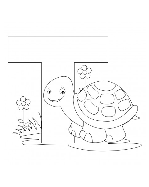 A Coloring  Free Printable Alphabet Coloring Pages