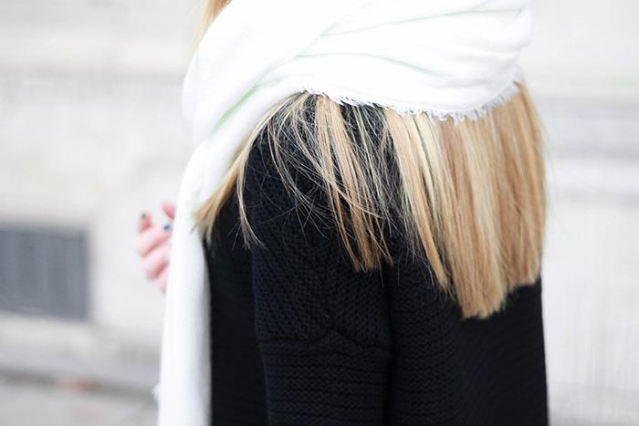large black knitwear
