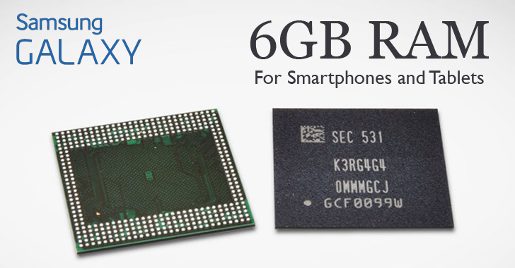 Samsung Launches 6gb Ram Chips For Next Generation Smartphones