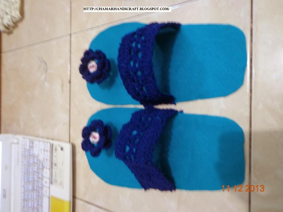 TUTORIAL MEMBUAT SANDAL RAJUT (SANDAL RUMAH) | crafting ...
