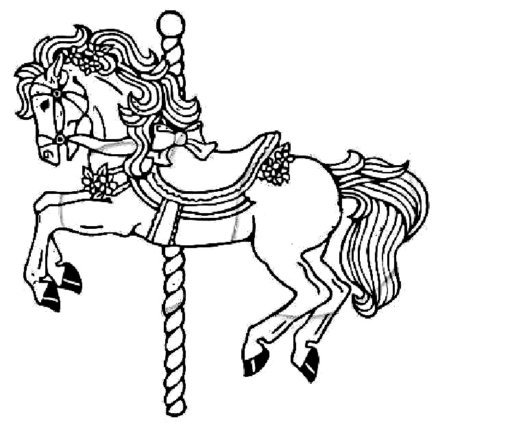 The everything girl brittany 39 s carousel horse sweater stencil for Carousel horse coloring page