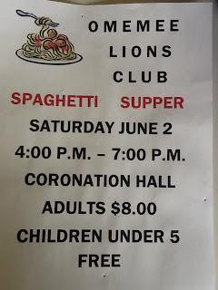 image Omemee LIONS Spaghetti Dinner Poster
