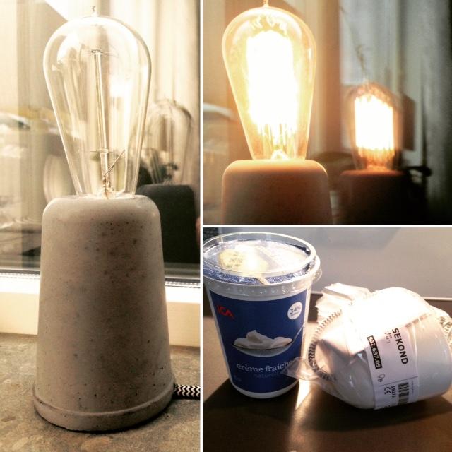gjuta lampa i betong