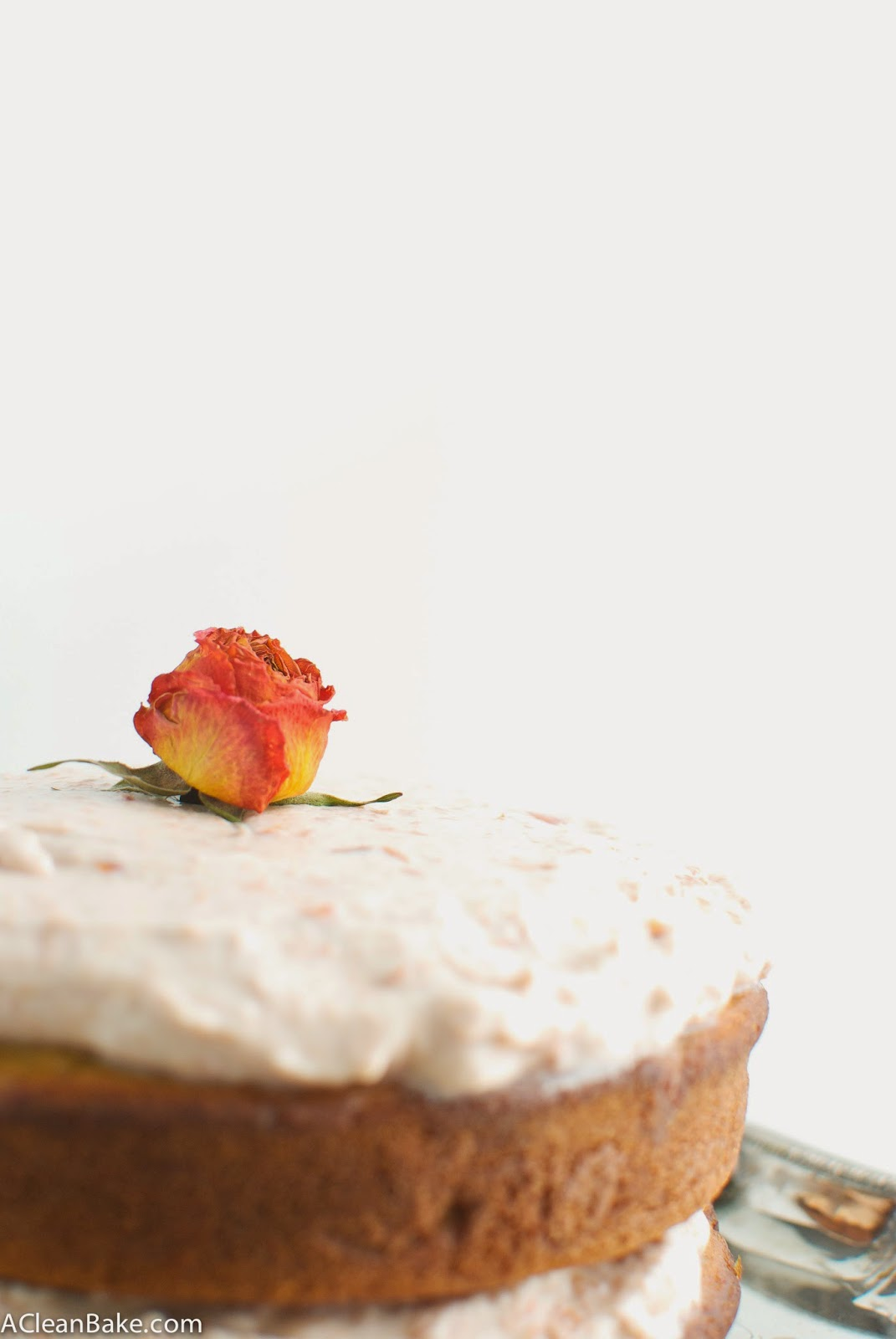 Gluten-Free Vanilla Layer Cake with Vegan Cherry Rose Frosting: dairy-free and NO special flours required!
