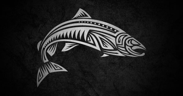 tribal salmon tattoo pictures to pin on pinterest tattooskid. Black Bedroom Furniture Sets. Home Design Ideas