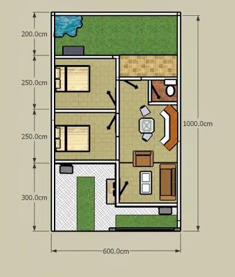contoh denah atau sketsa rumah minimalis terbaru desain