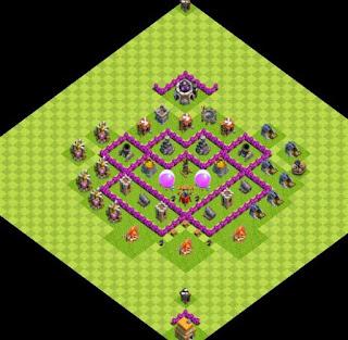 Farm Base COC TH 6 Dengan Air Sweaper Clash of Clans