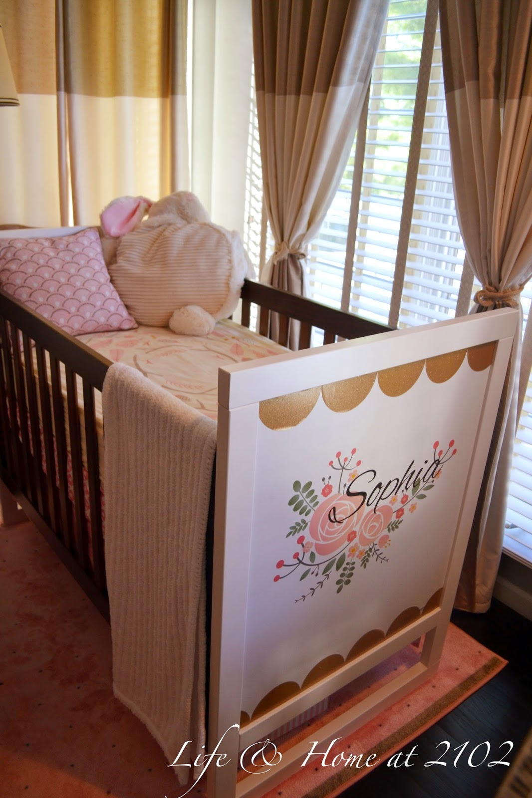 Life home at 2102 final touches in the master bedroom for Master bedroom with crib ideas