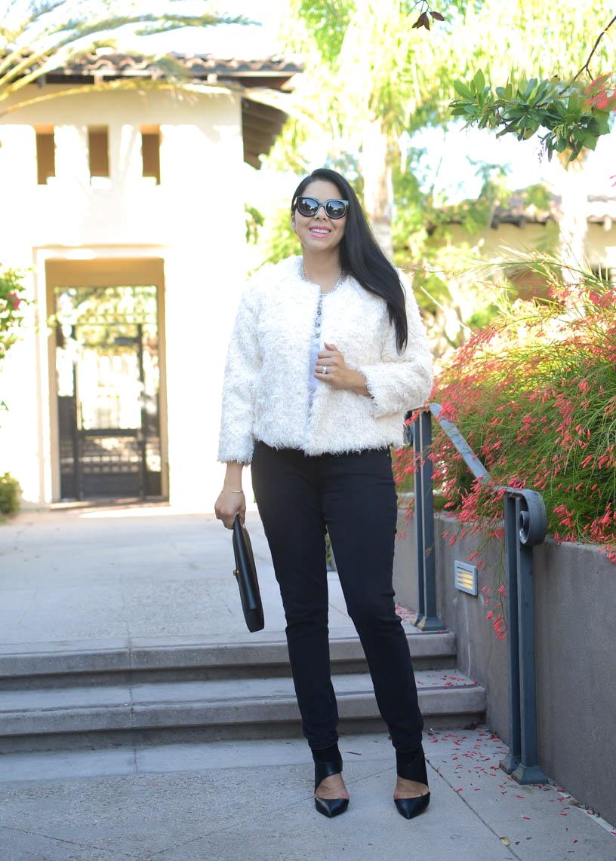 how to wear a furry coat, san diego fashion blogger, san diego style
