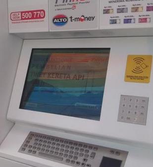 Mesin Penjual Tiket Otomatis Vending Machine Kereta Api