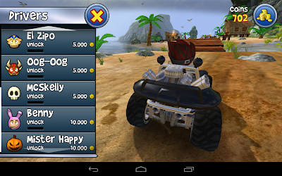 Beach buggy blitz the racing game: The character options