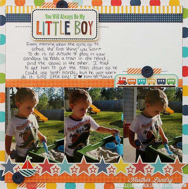 Sandbox_Scrapbook Page_Boy_Vehicle_Obsession