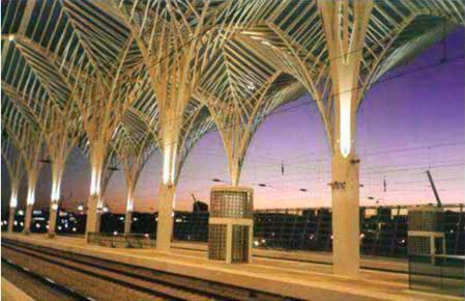arquitetura   a u00e7o  pilares em  u00c1rvore ou cobertura arb u00f3rea