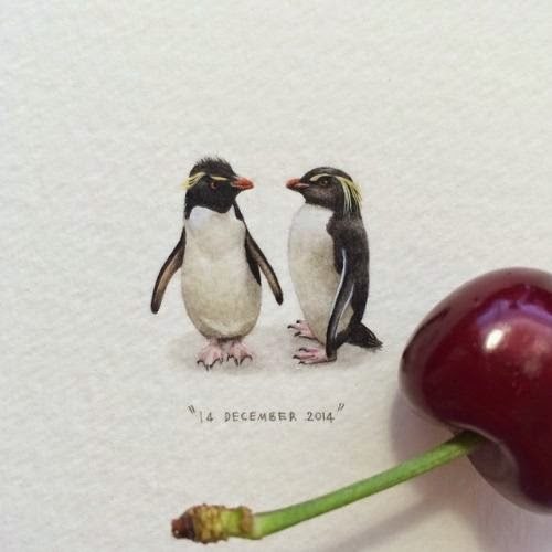 09-Rockhopper-Penguins-Lorraine-Loots-Miniature-Paintings-Commemorating-Special-Occasions-www-designstack-co