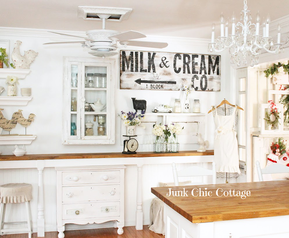 junk chic cottage french farmhouse faux brick wall