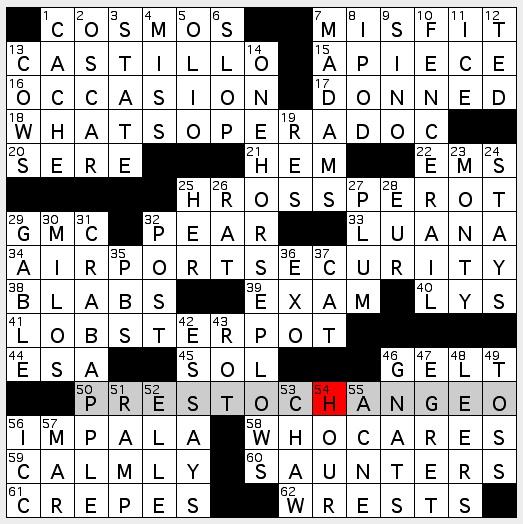 Rex Parker Does the NYT Crossword Puzzle: April 2013