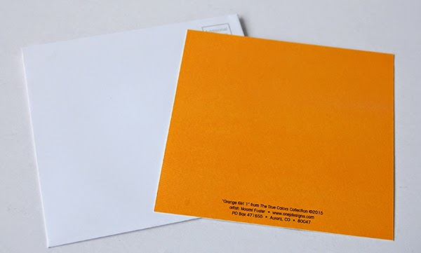 Orange Girl Hello Postcard Personalized Invitation Card orange back side with matching white envelope