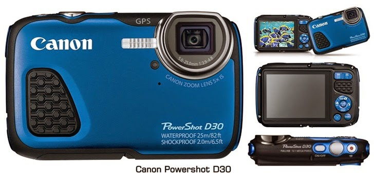 Harga & Spesifikasi Kamera Canon Powershot D30