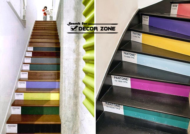 20 painted stairs ideas a way to renovate your home - Painted stairs ideas pictures ...