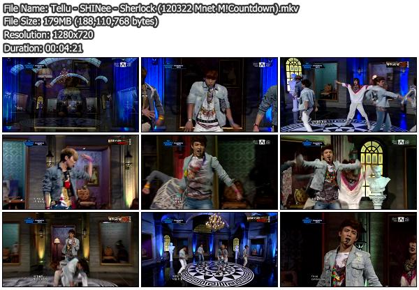 [Perf] SHINee   Stranger + Sherlock @ Mnet M!Countdown 120322