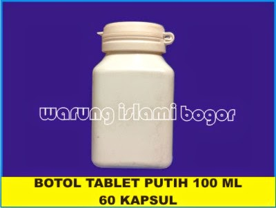 Jual Botol 60 Kapsul Kotak White