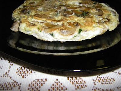 Tortilla de Claras con Champiñones
