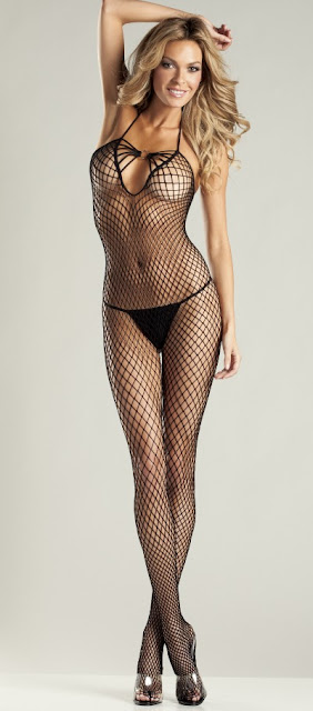 Bare Back Halter Queen Size Body Stocking