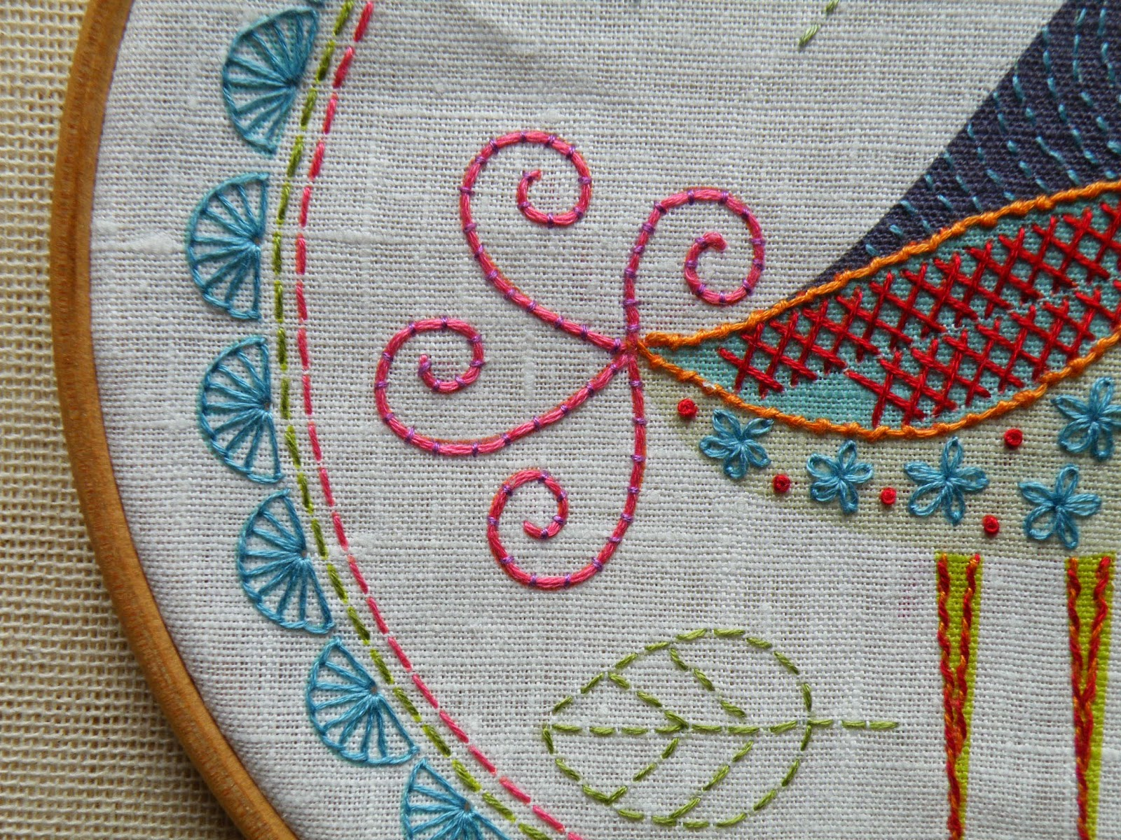 Birdie 1 Embroidery Kit detail