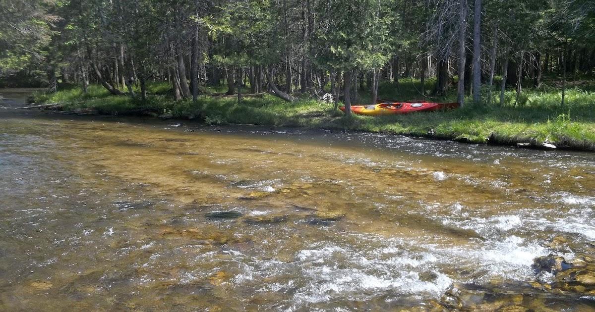 Kayaking Michigan Rivers Jordan River June 7 2014