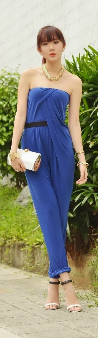Cobalt Blue Dress With Belt