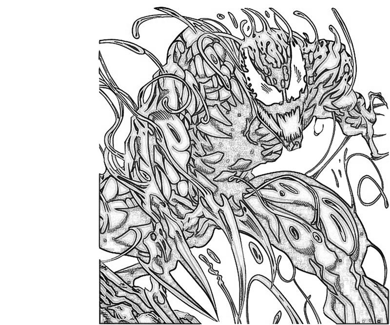 spiderman carnage coloring pages - photo#5