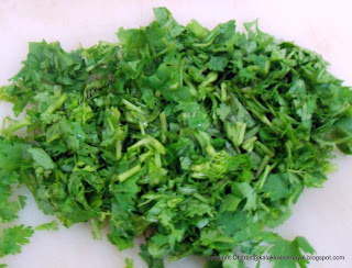 Coriander leaves chopped