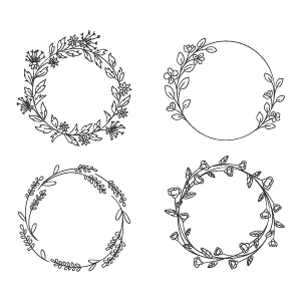 Free Download Hand Drawn Spring Wreaths II