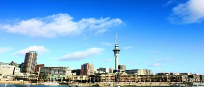 Sky Tower Auckland View from Viaduct