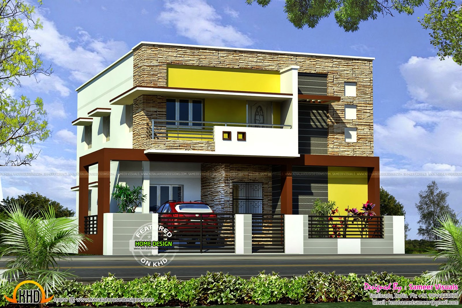 221 square meter flat roof house kerala home design and floor plans - House plans atticsquare meters ...