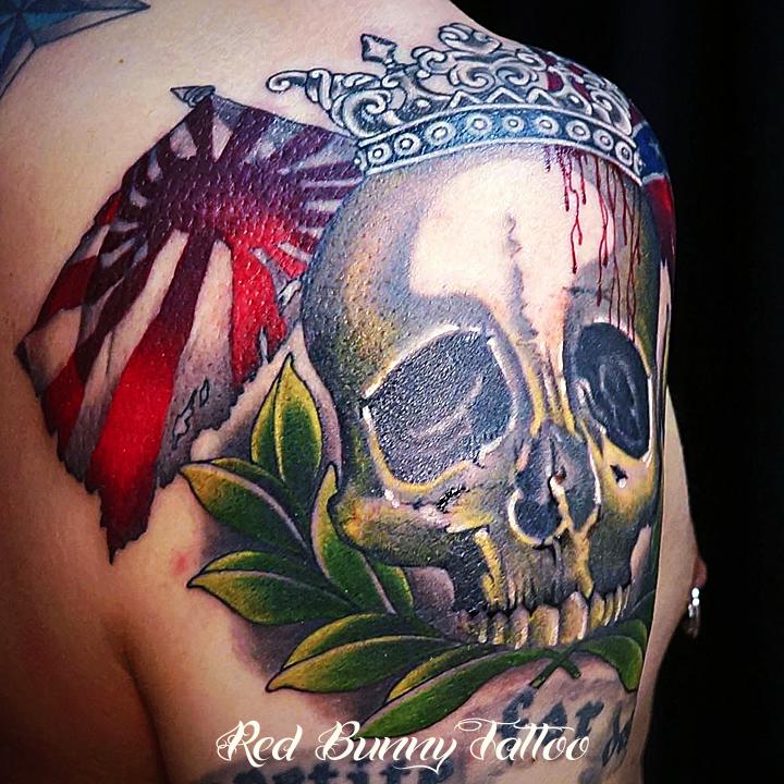 skull tattoo スカルタトゥー 旭日旗 サザンクロス