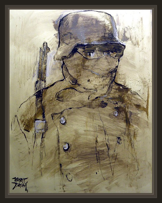 WW2-SOLDADOS-ALEMANES-STALINGRADO-RUSIA-GERMAN SOLDIERS-PINTURAS-PAINTINGS-ERNEST DESCALS-